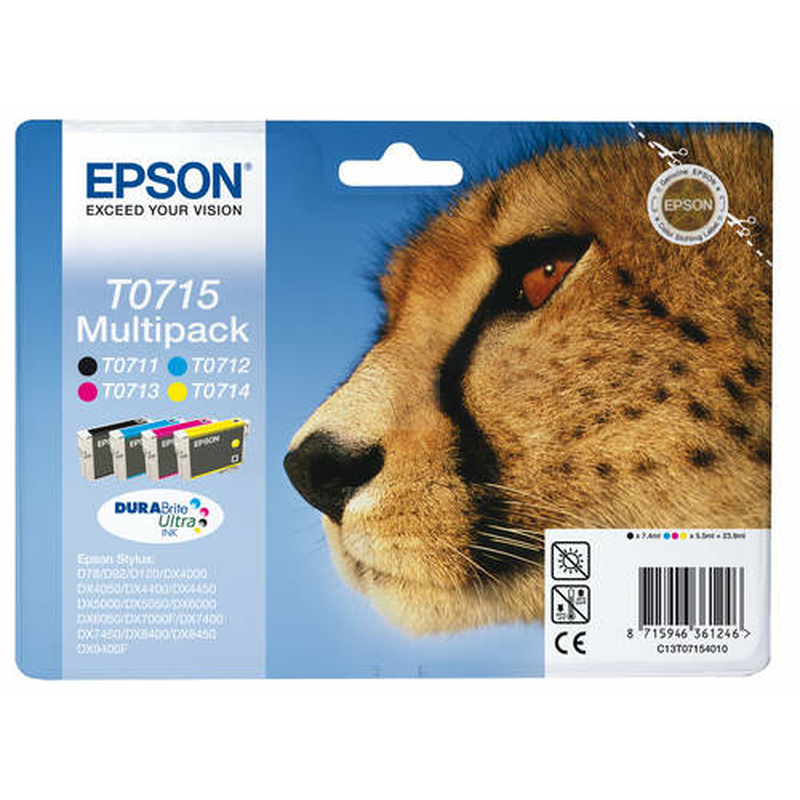 Epson T0715 Original 4er-Set Multipack