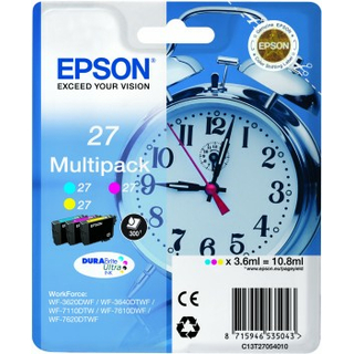 Epson Multipack 27 c/m/y 10,8ml