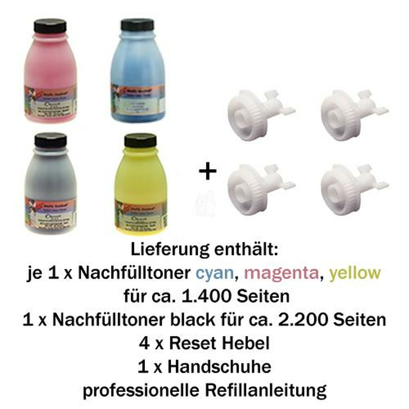 Refill Set für Brother TN-230 BK/C/M/Y