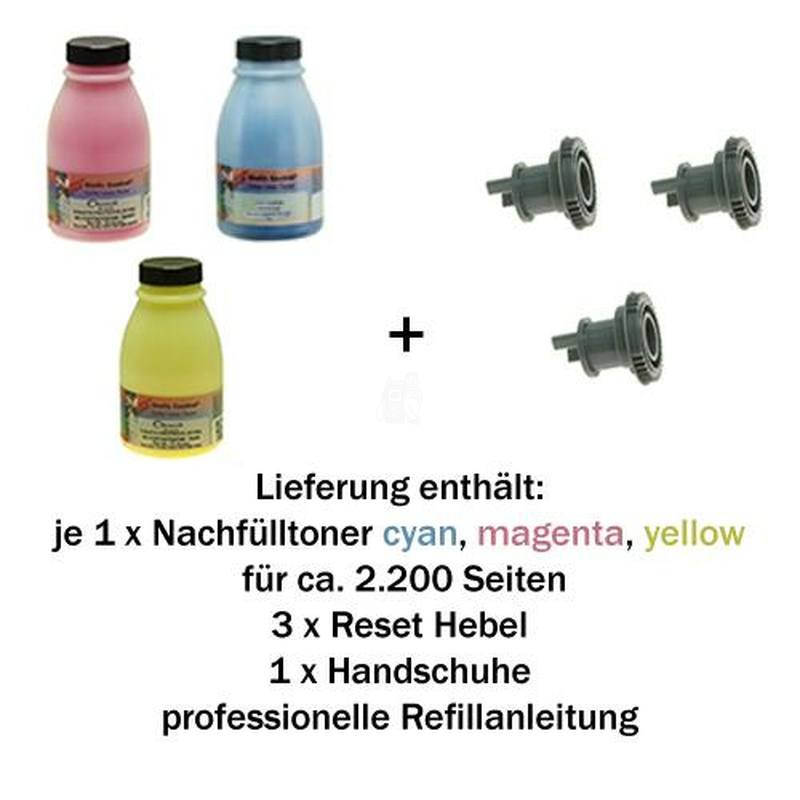 TN-245 Refill-Set Alternativ Brother (C/M/Y)